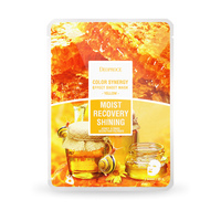 Deoproce Color Synergy Effect Sheet Mask Yellow 10 sheets korea facial mask snail mucus honey moisture soothing made in korea