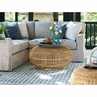 HANDITEX new product 2020 Rattan indoor furniture Round Natural Rattan Accent Coffee Tables