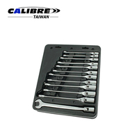 CALIBRE Hand Tools 12pc Swivel Head Socket Spanner Set