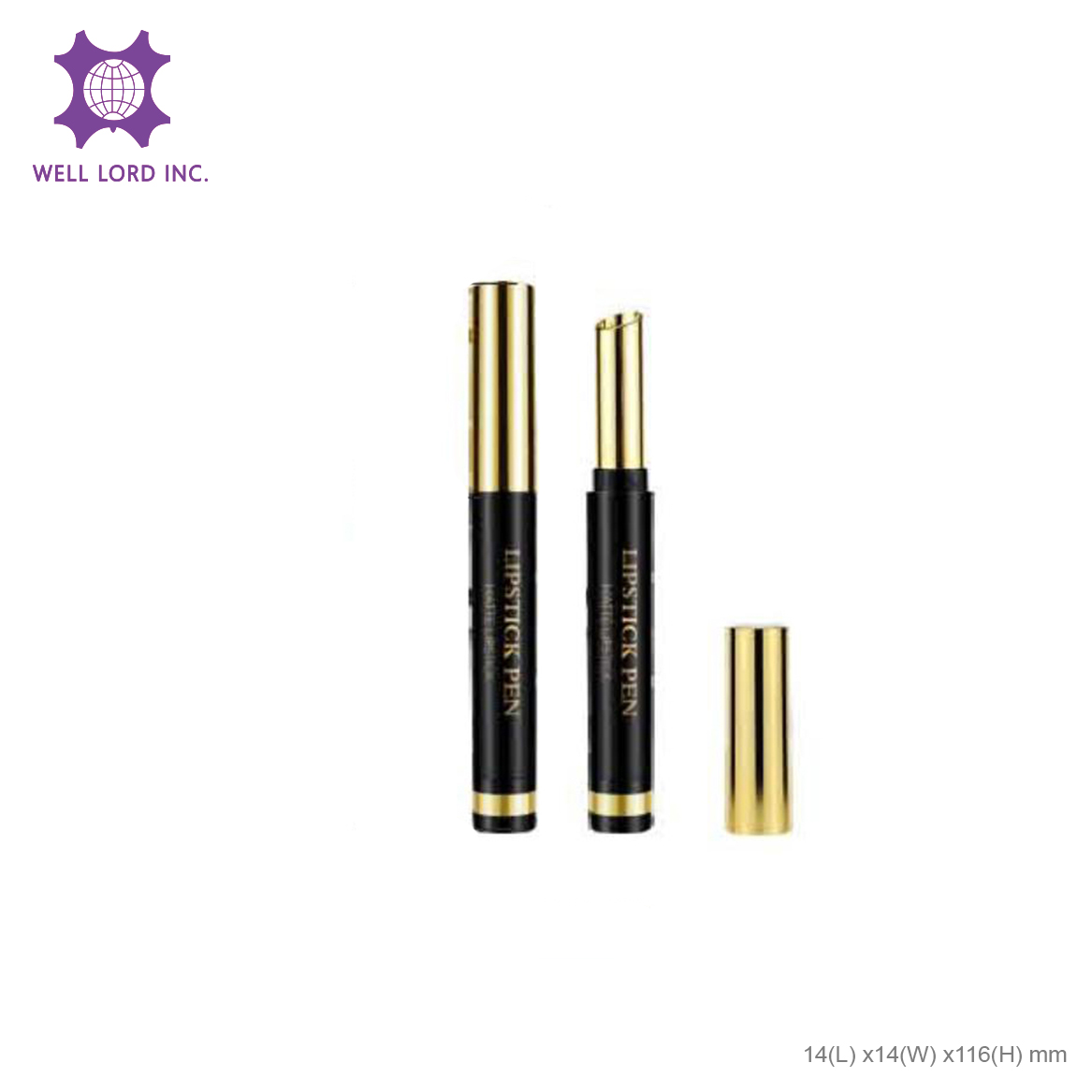 New arrival bold color matte gold moisture lip care stunning color private label butter glow lip stick matte