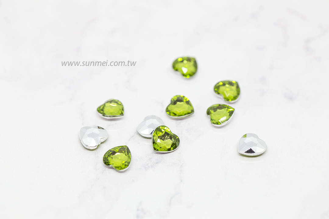 Acrylic Crystal 5mm 6mm 7mm 10mm 12mm-33mm Various Colors Mix Heart Shape Glue On Rhinestone Beads Phone Accessories Diy