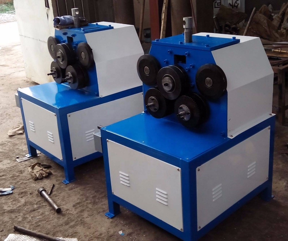 JY-50 angle iron rolling machine for flat iron,round pipe,channel steel,square steel duct and ventilation forming