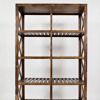 4 Tier Bookcases and Book Shelves Industrial Vintage Metal and Wood Bookcases Furniture Wrought Iron Bookcase