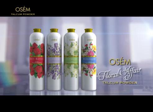 OSEM Fragrance Talcum Powder Silky Good Skin Care Jasmine Floral Scented Body Powder Tin & Plastic