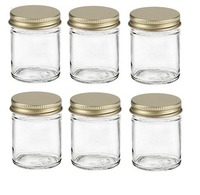 Wholesale empty clear airtight food storage container honey glass storage jar frascos de vidrio kitchen glass jar with lid