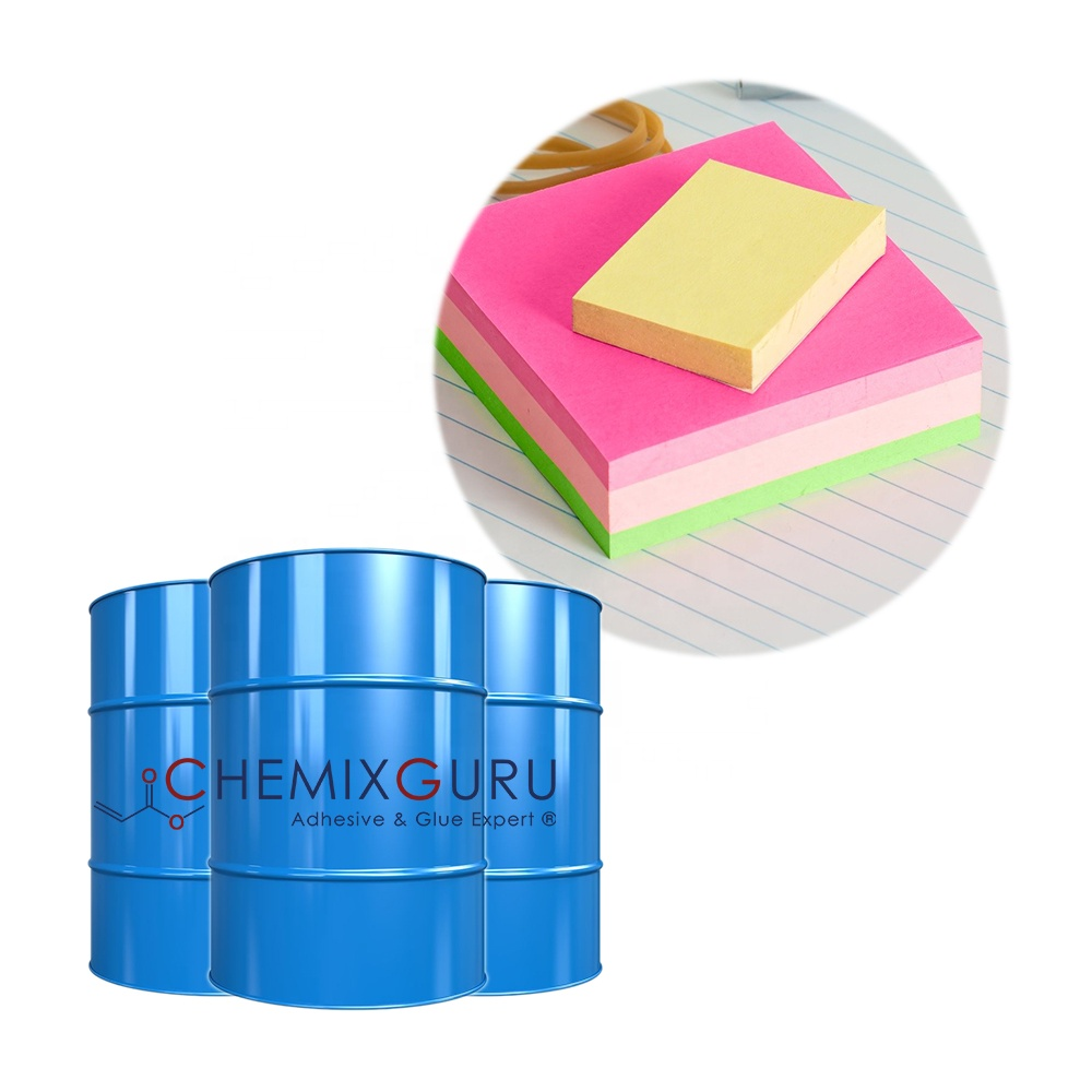 Water Based Acrylic Removable Sticky Note Adhesive <strong>Glue</strong>