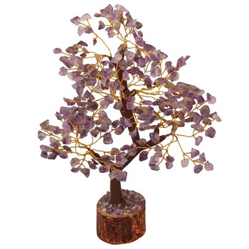 Amethyst Chips Tree Bonsai Small Polished Crystal for home decoration feng shui wholesale chakra chips tree of life