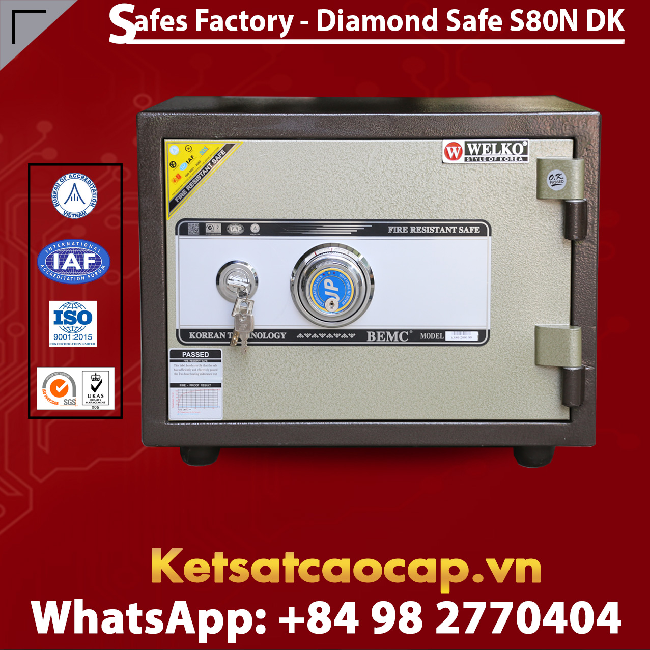 Diamond Safe KS80N DK Black
