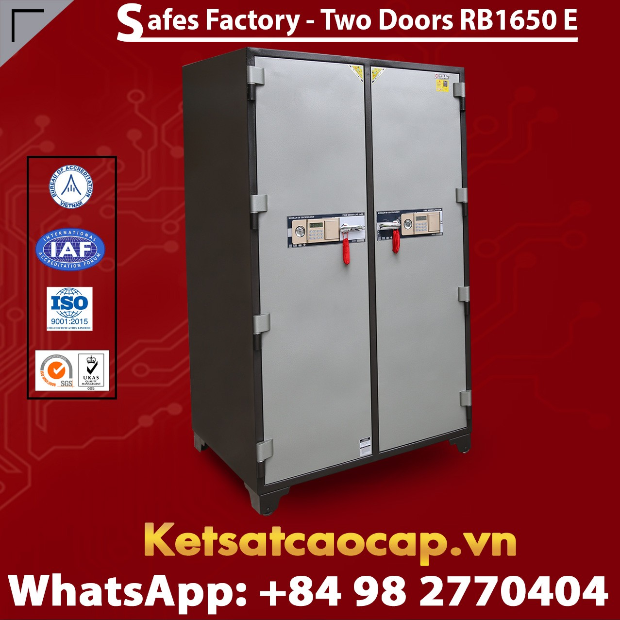 Bank Safes RB1650 E Smart Locking System Secure Safe Box