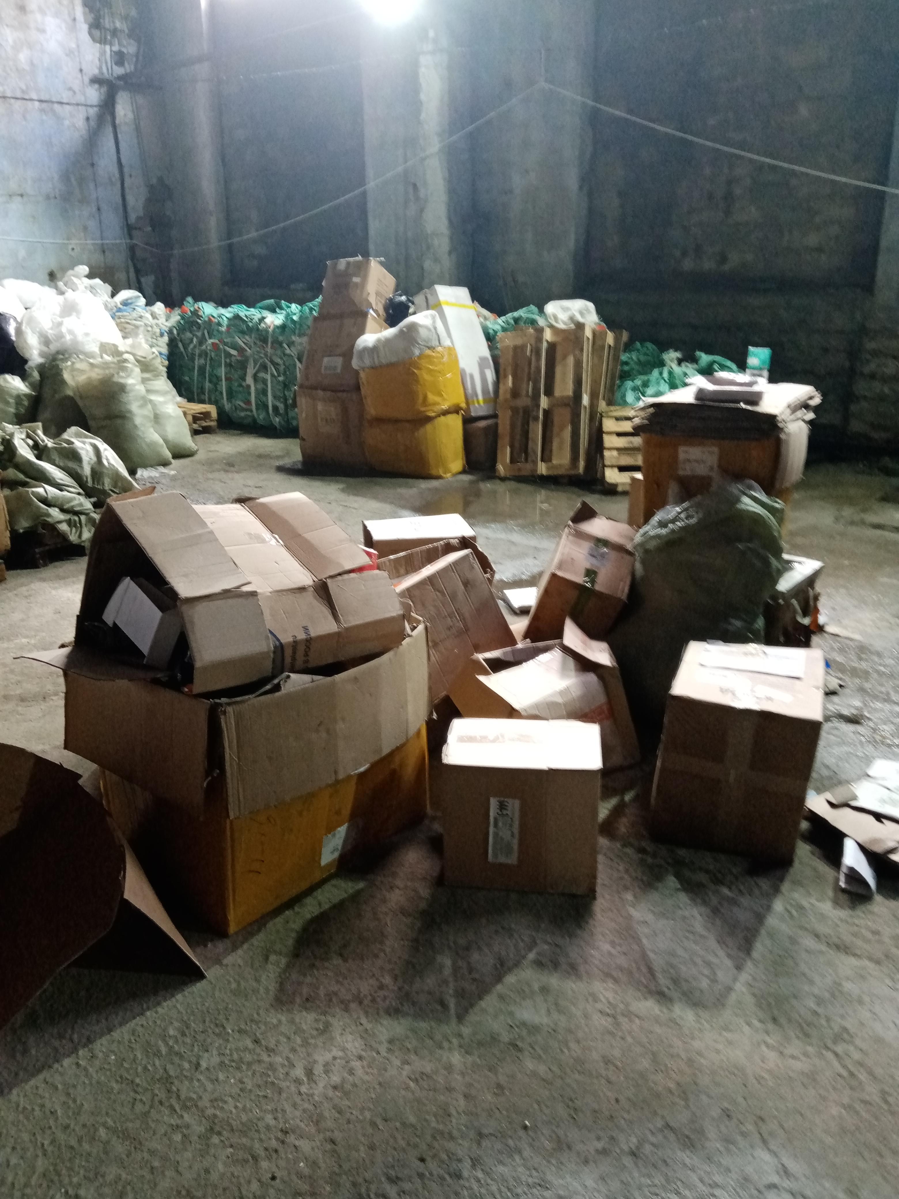 Waste of Corrugated Cardboard