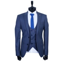 New Fashionable Blue Suit For Men Luxury Design New Factory Suit For Men