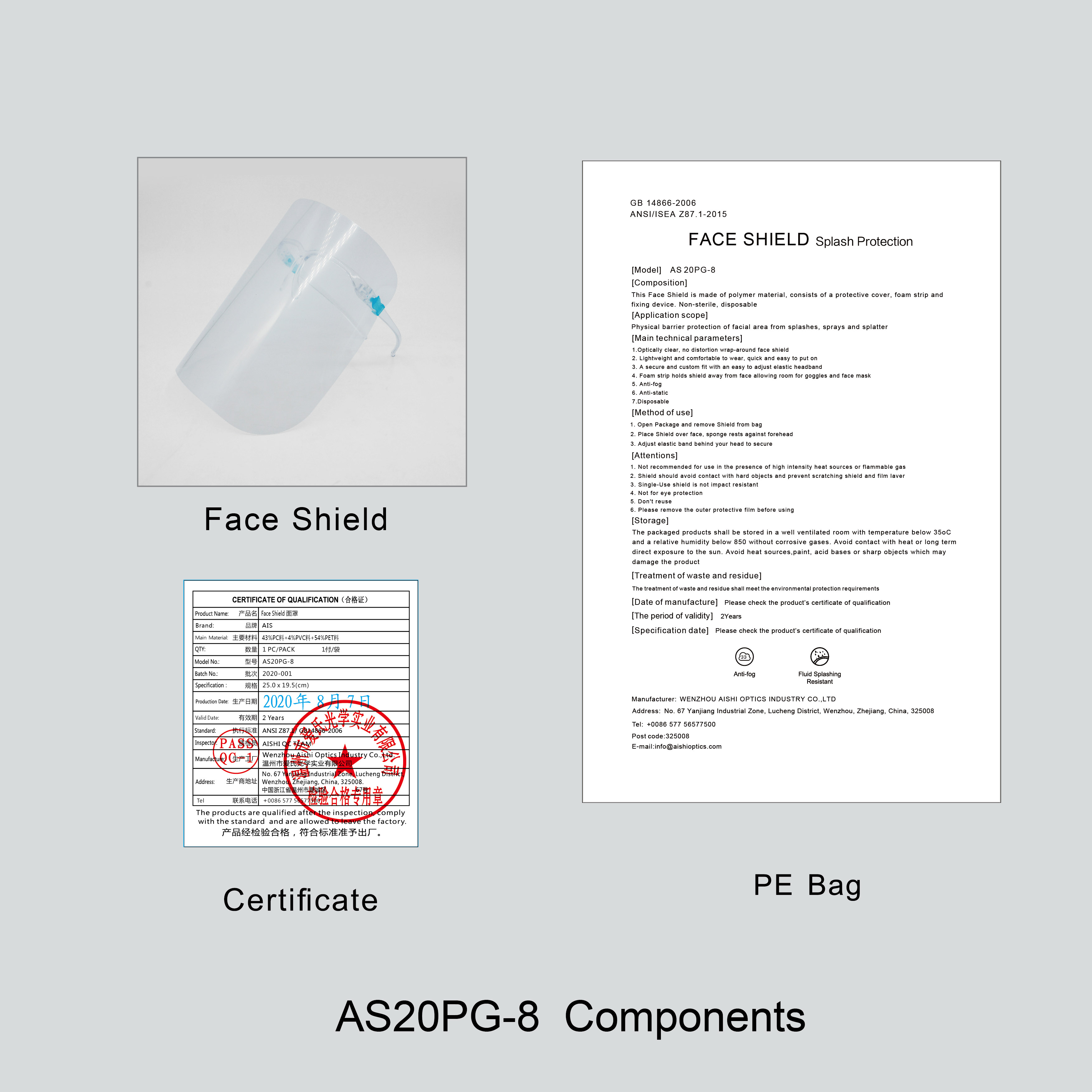 Reusable Safety Advanced Protective Faceshield with Glasses Transparent Face Shield Frame