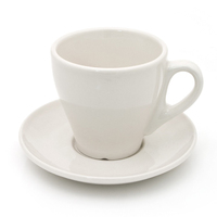 Custom Color Porcelain Cappuccino Espresso Coffee Cup and saucer