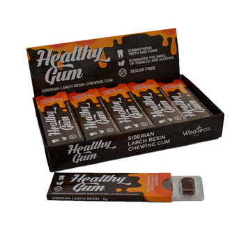 NEW / HEALTHY GUM - Siberian Larch Resin NATURAL ORGANIC CHEWING GUM / OEM