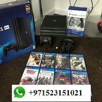 ORIGINAL FREE SHIPPING For PS4 PRO 1TB - Warranty + 10 GAMES & 2 Controllers