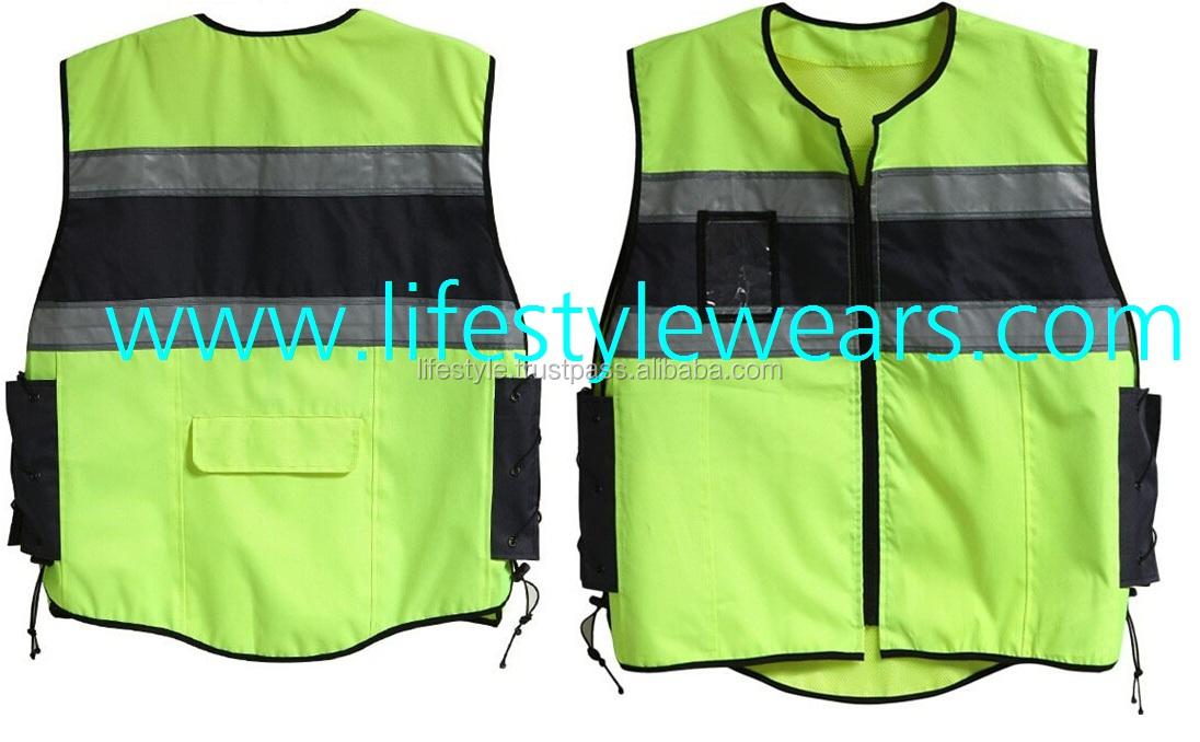 เสื้อกั๊กตำรวจเครื่องแต่งกาย LED ความปลอดภัยเสื้อกั๊กเสื้อกั๊กตำรวจสำหรับขาย