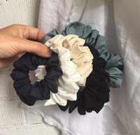 Handmade Hair Ties Cute hair accessories Lovely 100% Linen Scrunchies Assorted Sizes Colors and Styles