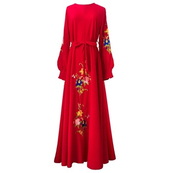 New traditional long sleeve dresses women Muslim hijabs 2019 Islamic clothing Dubai abaya
