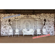 Stylish Indian Wedding Stage Backdrop Flower Design Wedding White Backdrop Panels Best Bollywood Stage Back walls