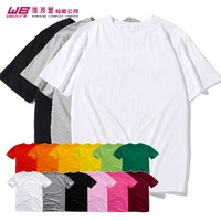 Custom made Oversized White T-Shirt 100% cotton clothing 180g Basic Top Blank Crew Neck Tee Streetwear Short Sleeve Top Tees