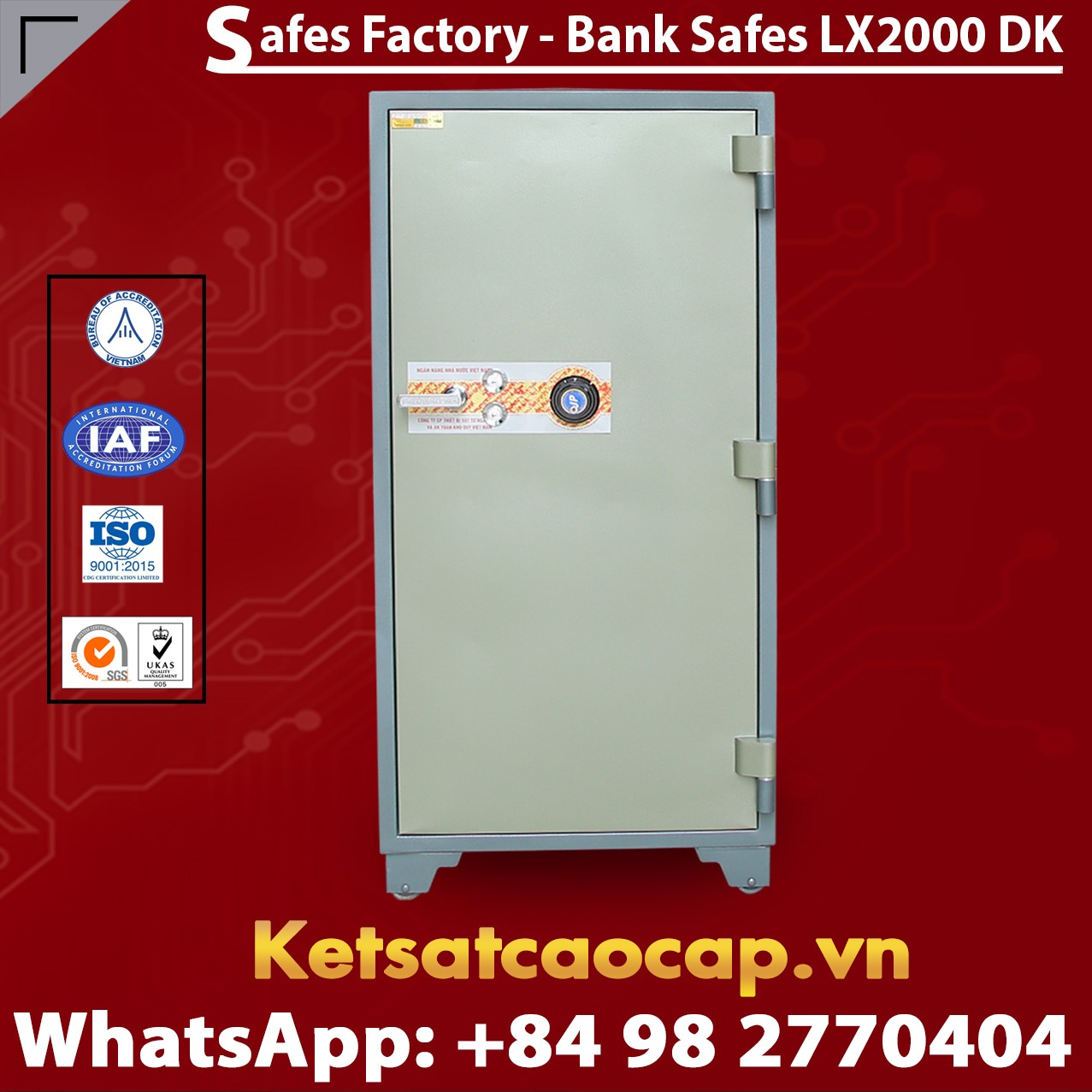 Bank Safes LX2000 DK Customized Design Mechanical Lock System