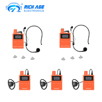 One Way Two Way Whisper Audio Wireless Tour Guide System Transmitter and Receiver for Teaching