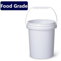 Food Grade Raw Material Round plastic buckets