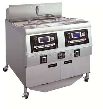 gas double fryer / tempura frying machine / fish and chip frying range station