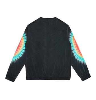 custom tie dye 100 cotton long sleeve black t shirt made in india