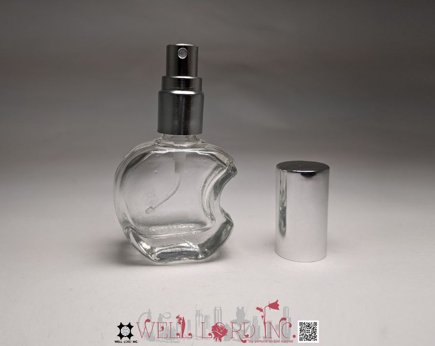Kawaii 3D apple shape 10ml mini size decor and vial for perfume and essential oil spray bottle