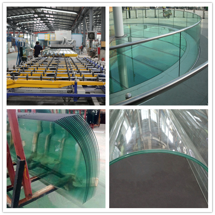 15mm 19mm large curved tempered jumbo size glass panels