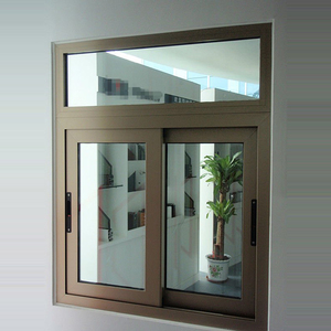 high quality modern design aluminium curved sliding window with low-e glass for villa