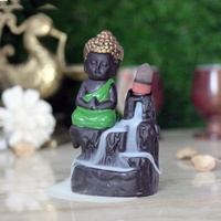 Wholesale Backflow Incense Holder Buddha Monk Resin Incense Holder by Brahmz