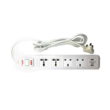 Centre button customize extension socket with universal plug & USB ports