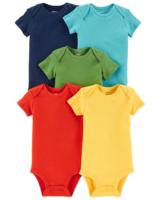 Short Sleeve 100% Cotton Blank Plain Baby Rompers whoelsae