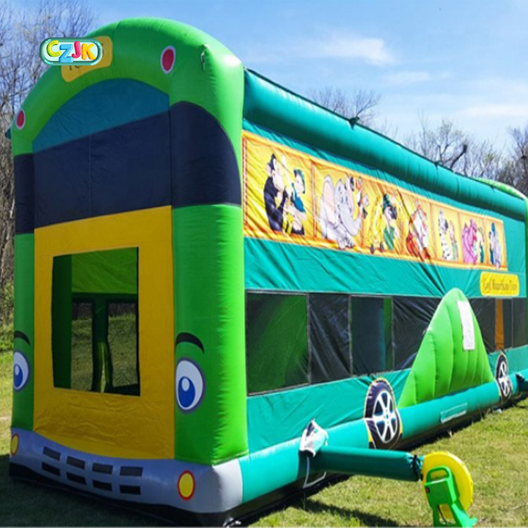 school bus moon inflatable bouncer jumping bouncy castle bounce house