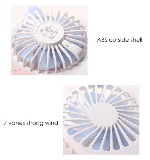 Portable Mini Pocket Fan Cool Summer Travel USB Handheld Fan New Pattern Charge Mini- Hold Fans Outdoor Thin Customized gifts