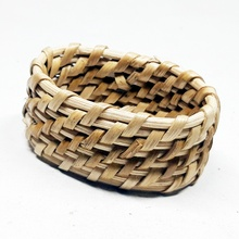 Cane woven Oval Form <span class=keywords><strong>Hochzeit</strong></span> Party Dekorative Serviette Ringe