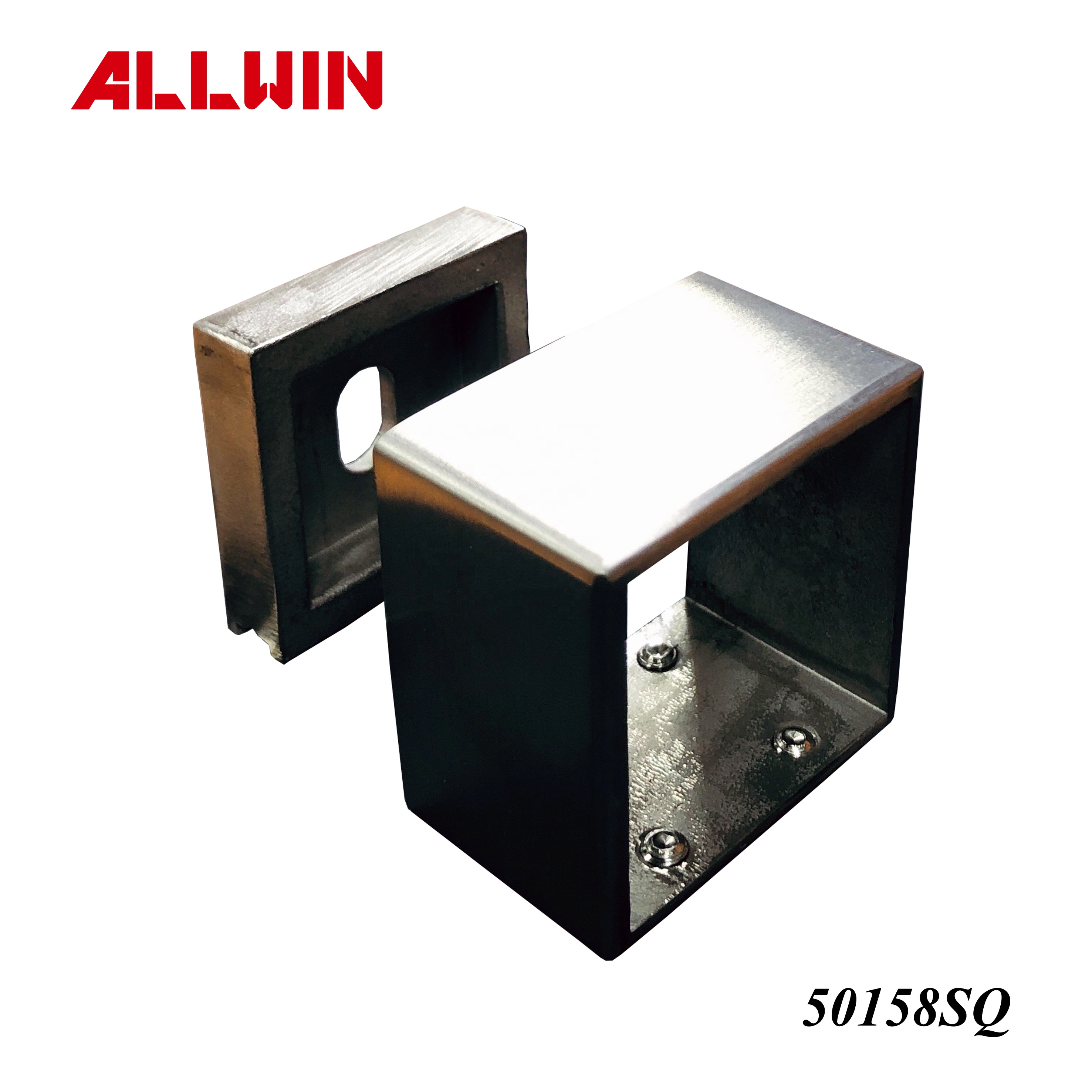 Square Tube Stainless Steel Wall Mount Flange