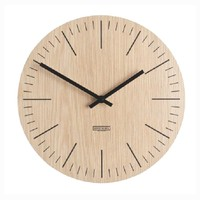 Circular shaped design wooden wall clock, classical quartz clock made in Vietnam now on sale