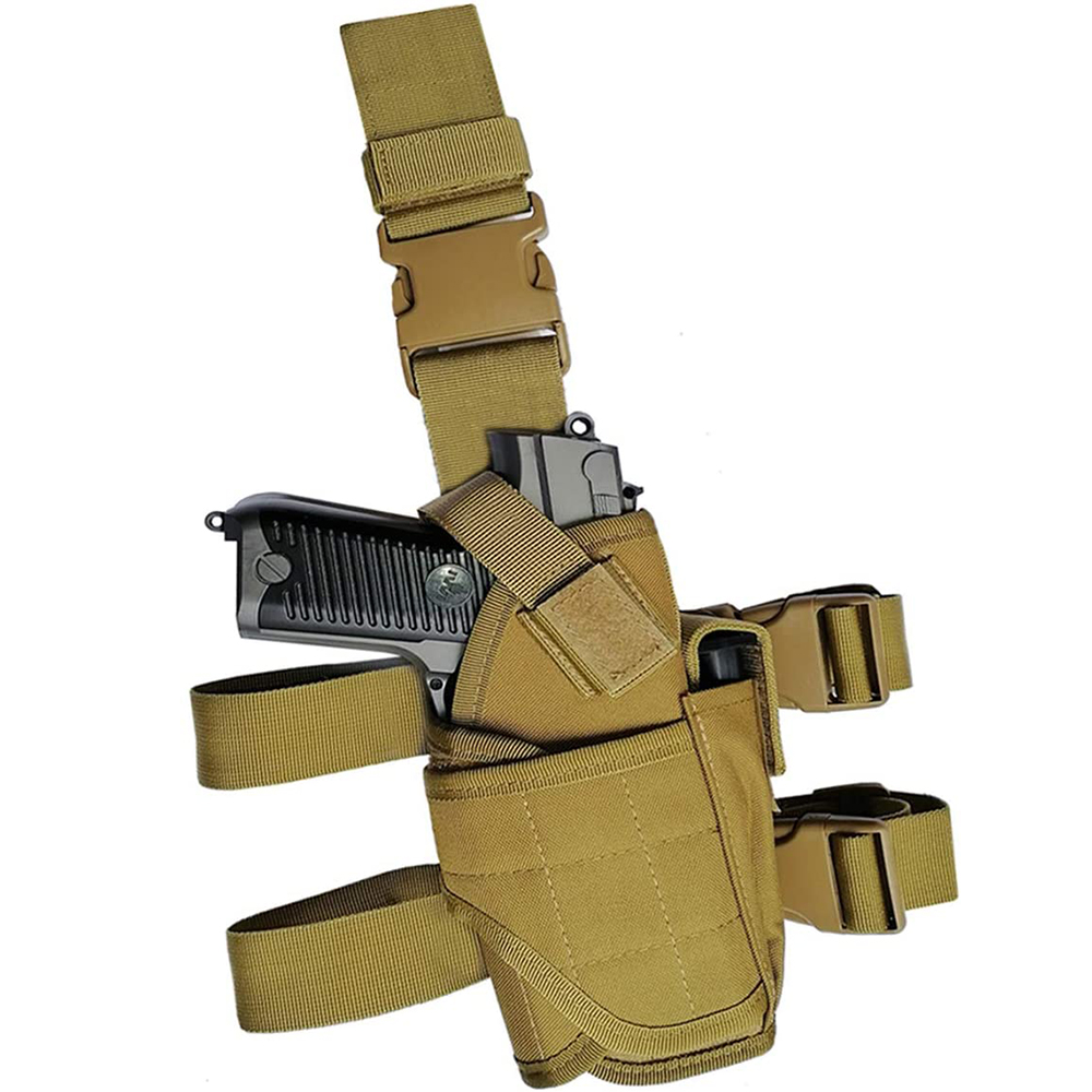 Outdoor hunting <strong>holster</strong> Molle Tactical Pistol Thigh Gun <strong>Holster</strong>, Drop <strong>Leg</strong> <strong>Holster</strong>, Right Hand Adjustable