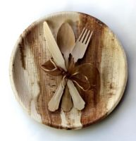 100% Organic, Natural & Biodegradable Areca Palm Leaf disposable plates and spoons