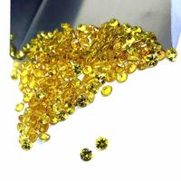 Natural Round Shape Faceted Yellow Sapphire Loose Gemstone Polished Cabochon Making Jewelry wholesale price