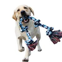 Pet Toy Pet Dog Chew Cotton Blend Rope Tug Dog Rope Playing Chew Toy