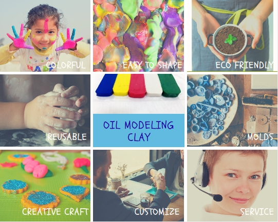 Craft Art Modeling Non Dry Industrial Oil Based Clay