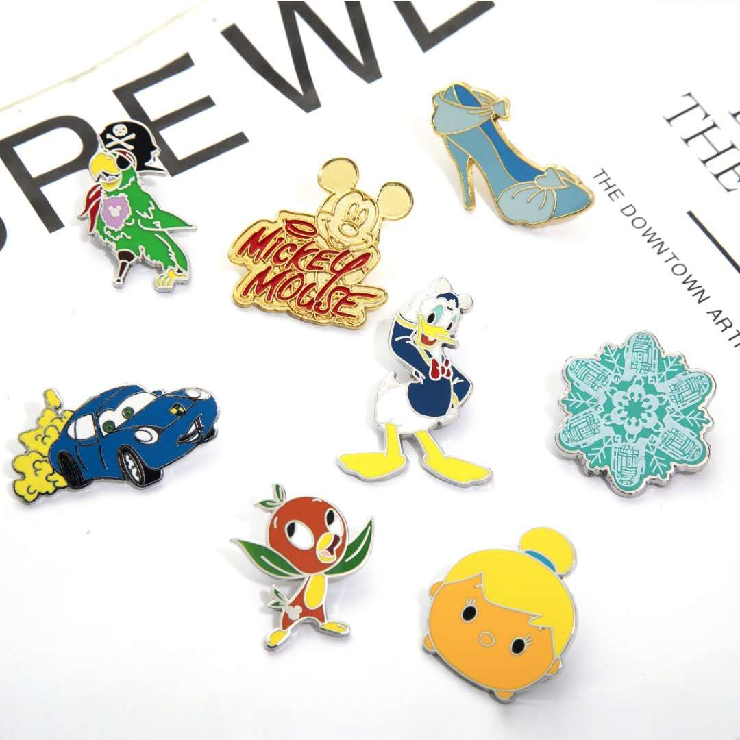 Factory Custom logo fruits pins Football Sports soft enamel Lapel pin metal Badge