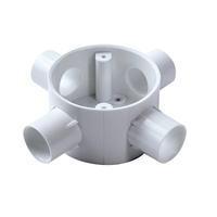 PVC FOUR- WAY JUNCTION BOX
