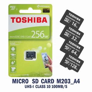 100% Original Brand TOSHIBA microSD card M203 16GB 32GB 64GB 128GB 256GB UHS1 U1  C10 Read 100MB/s memory card