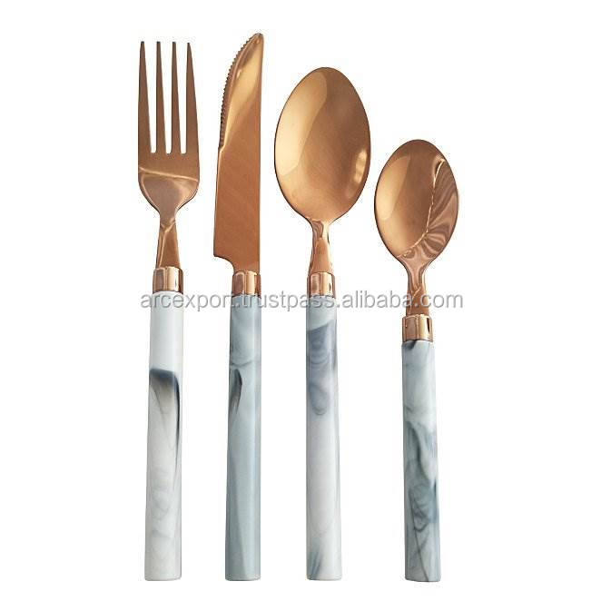 gold plated luxury cutlery