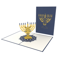 Hanukkah Handmade Christmas Greeting Pop Up Card 3D Paper Craft Wholesale Vietnam